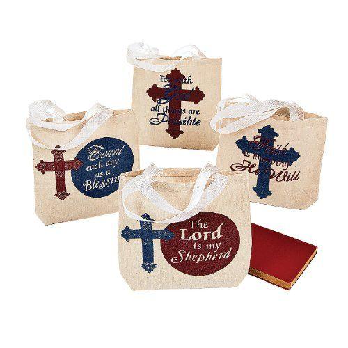 Religious Canvas Tote Bags (1 Dozen) - Bulk Fun Express http://