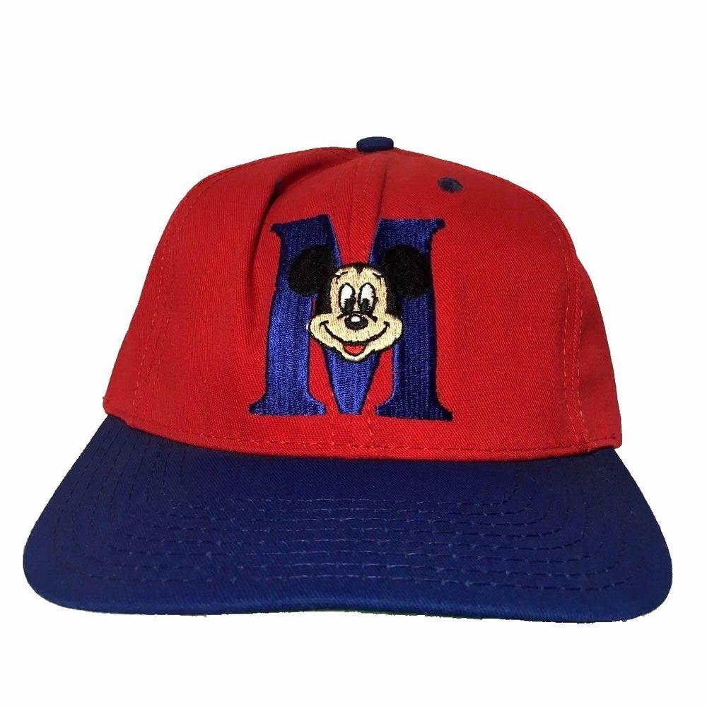 d0c7e90bbb8c3 Vintage Mickey Mouse Disney Red Blue Snapback Hat Made In USA by Goofys Hat  Co  GoofysHatCo  BaseballCap