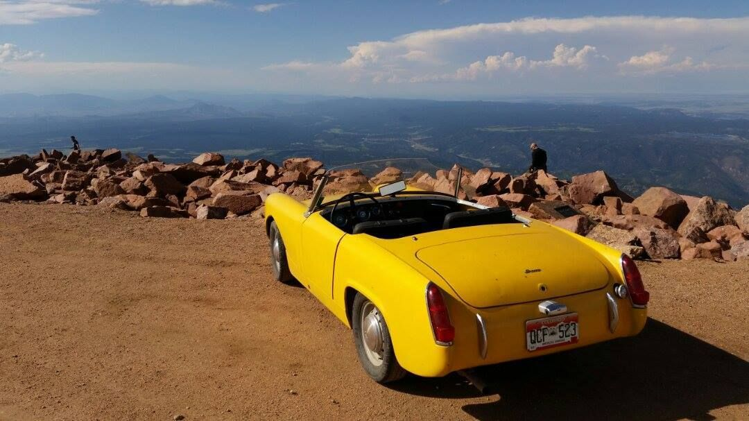 A view from the top austin healey sprite mg cars pikes