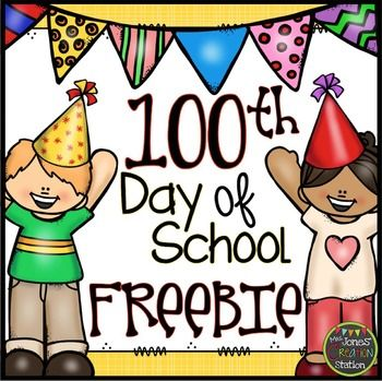 100th Day of School Freebie {Printables} | Math | Pinterest | Bags ...