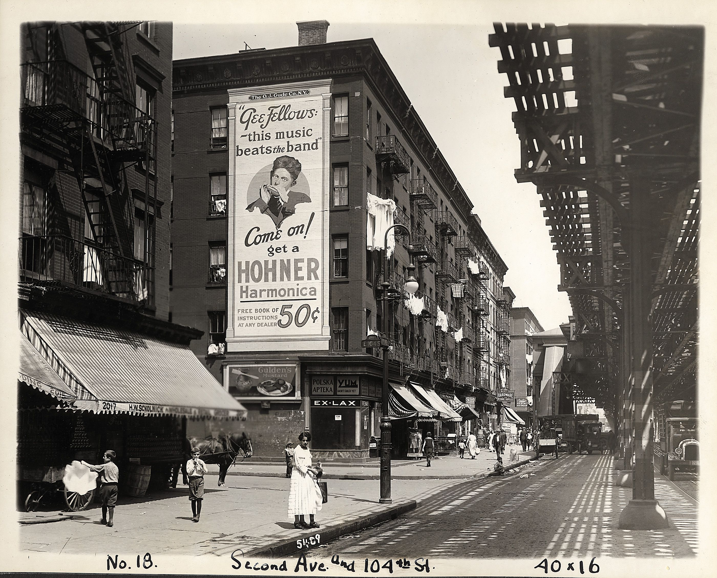 1920s hohner billboard in new york city hohner history for Flowers union square nyc