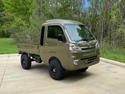 2018 Khaki Daihatsu Hijet Jumbo Cab Japanese Mini Trucks For Sale Mini Truck 2 Lift Kit Youtube Mini Trucks Trucks For Sale Daihatsu