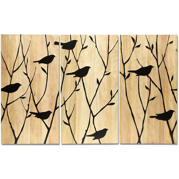 Palecek Black Birds Wall Décor - Set of 3 featuring polyvore home ...