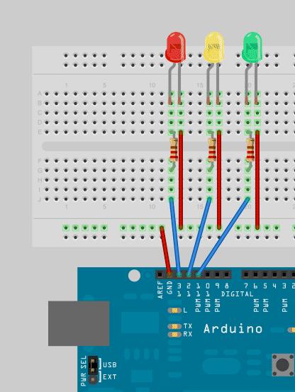 Arduino programming for beginners the traffic light