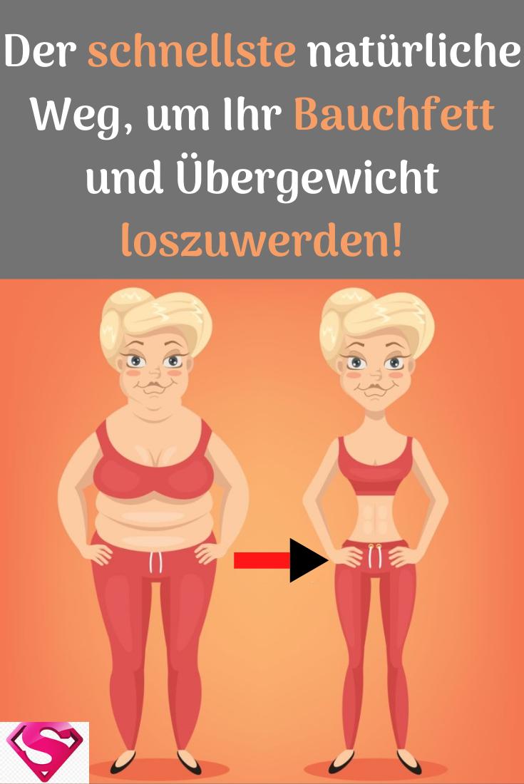 Wege verlieren natürlich Bauchfett