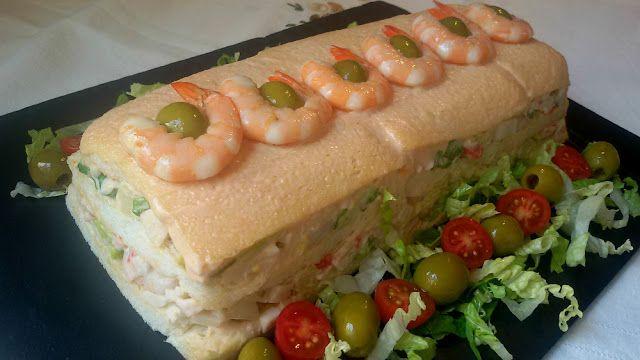 Anna recetas fáciles: Pastel fácil de marisco con pan de molde