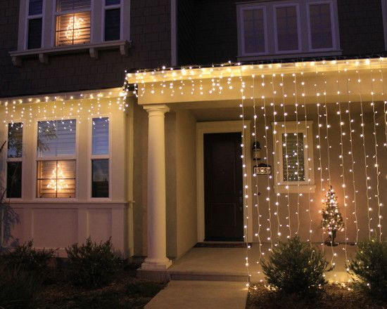 Christmas Light Curtains.Christmas Home Decorations Led Light Curtains And Icicles