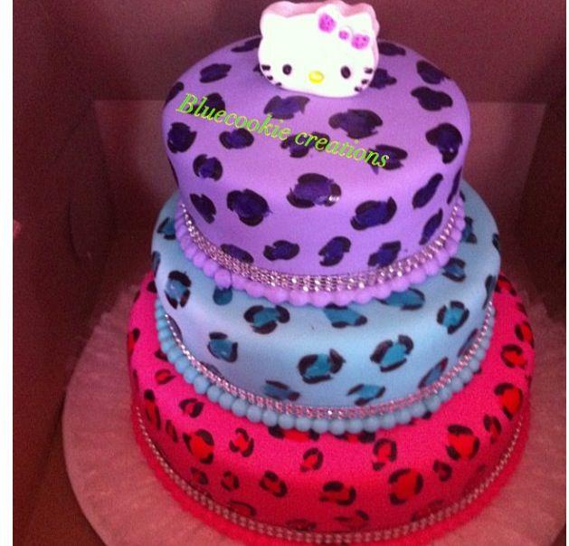 Hk leopard cake