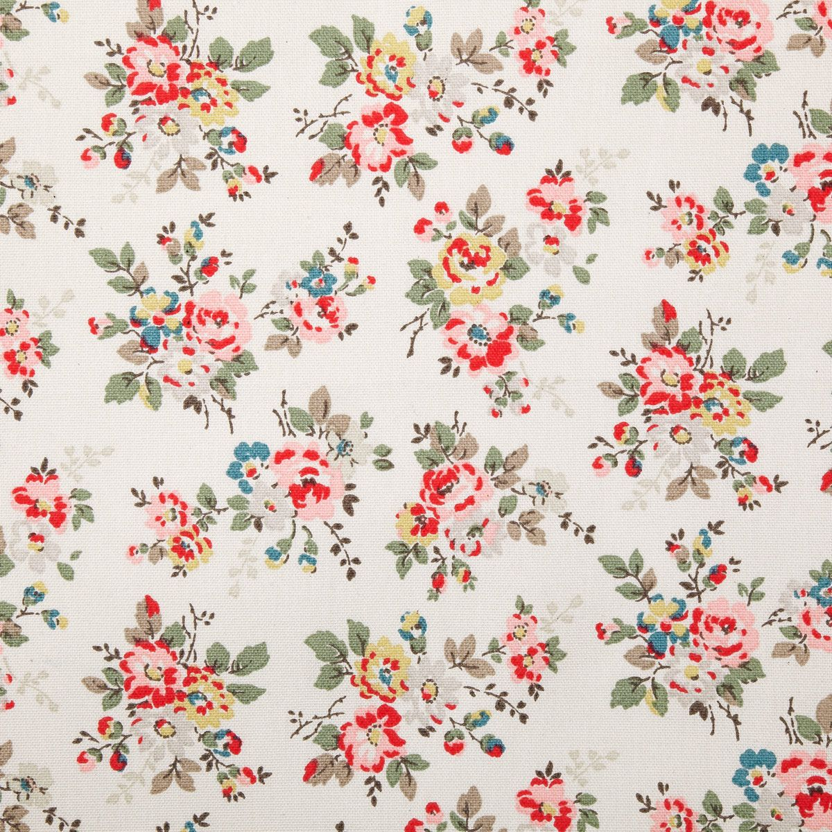 Cotton Fabric Kingswood Rose Cotton Duck Cath Kidston Pattern