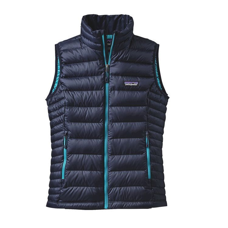Patagonia Women's Down Sweater Vest - Navy Blue w/ Epic Blue