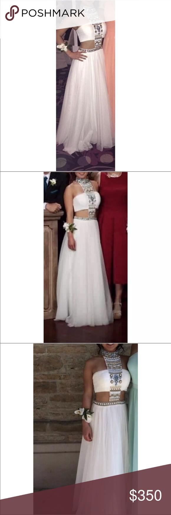 Sherri hill white cutout prom dress size sherri hill white prom