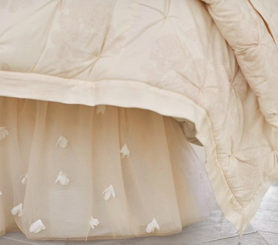 Pleated On Bed Skirt Pottery Barn