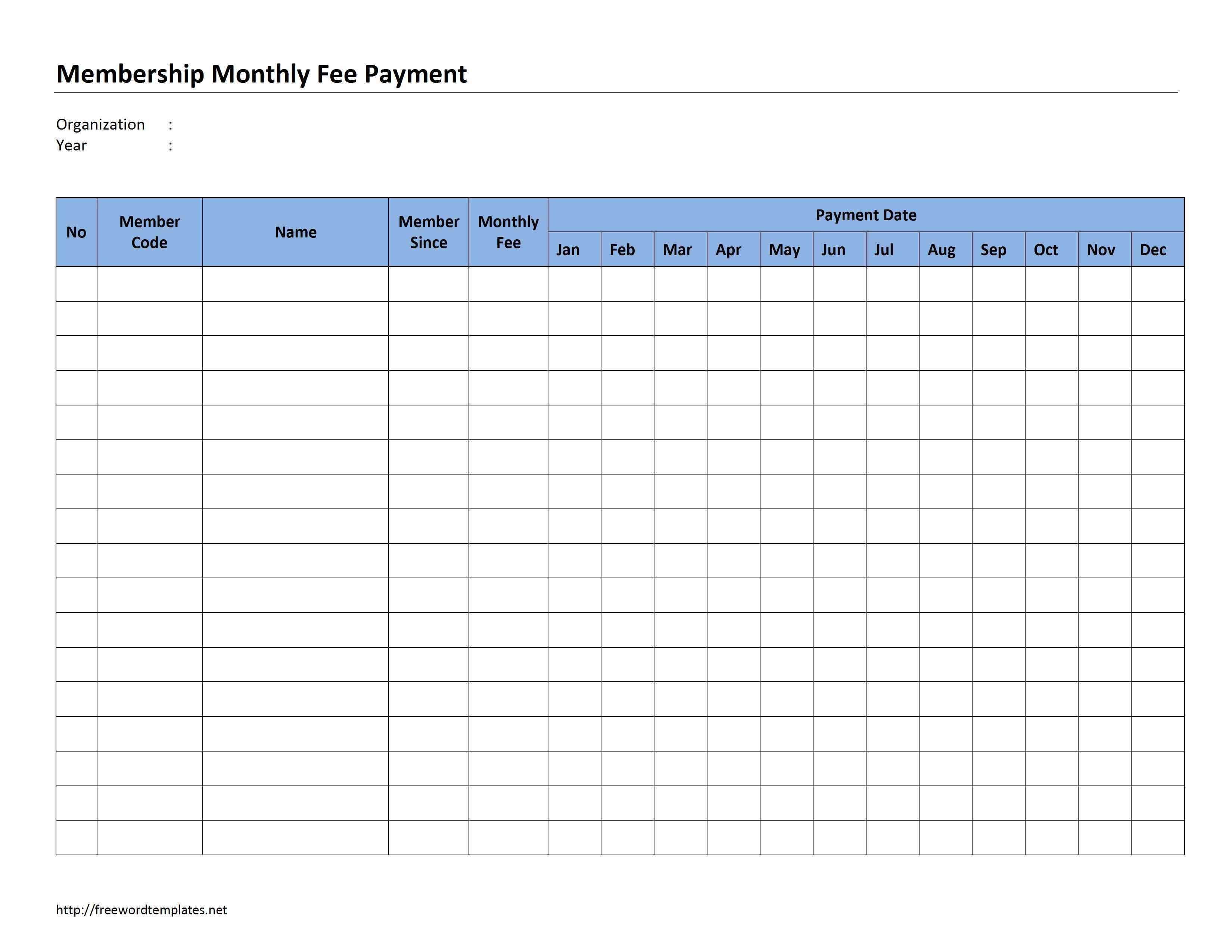 Monthly Bill Template Google Search