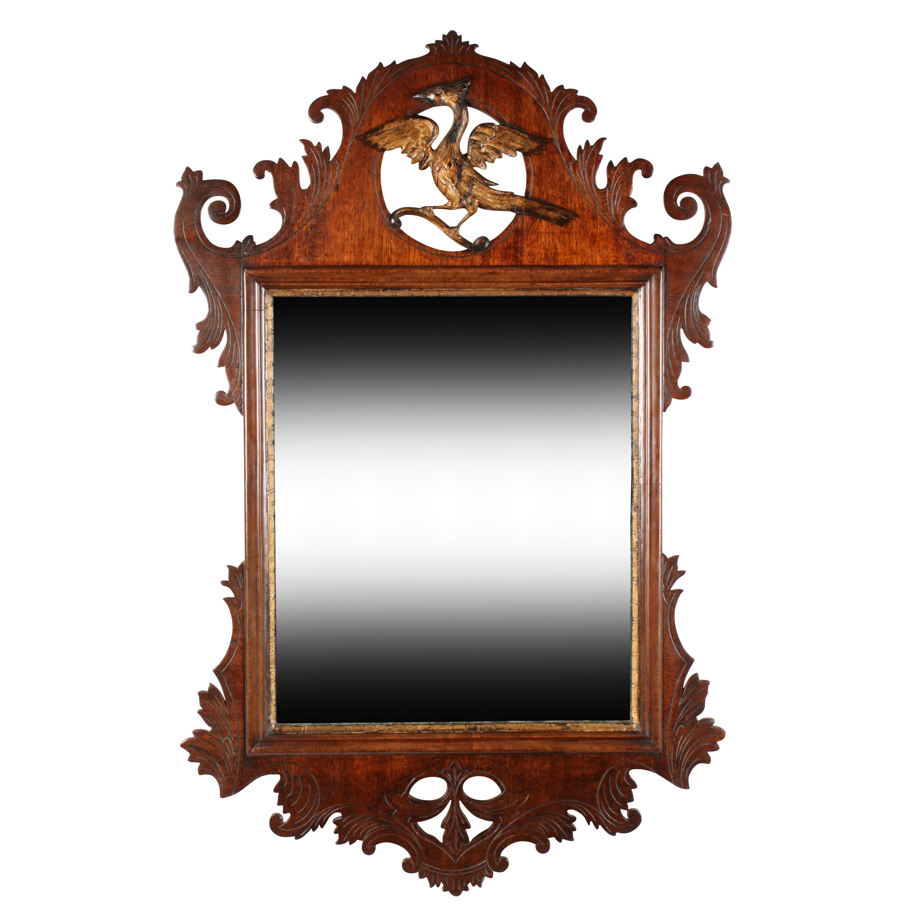 18th Century Chippendale Wall Mirror Lighted Wall Mirror
