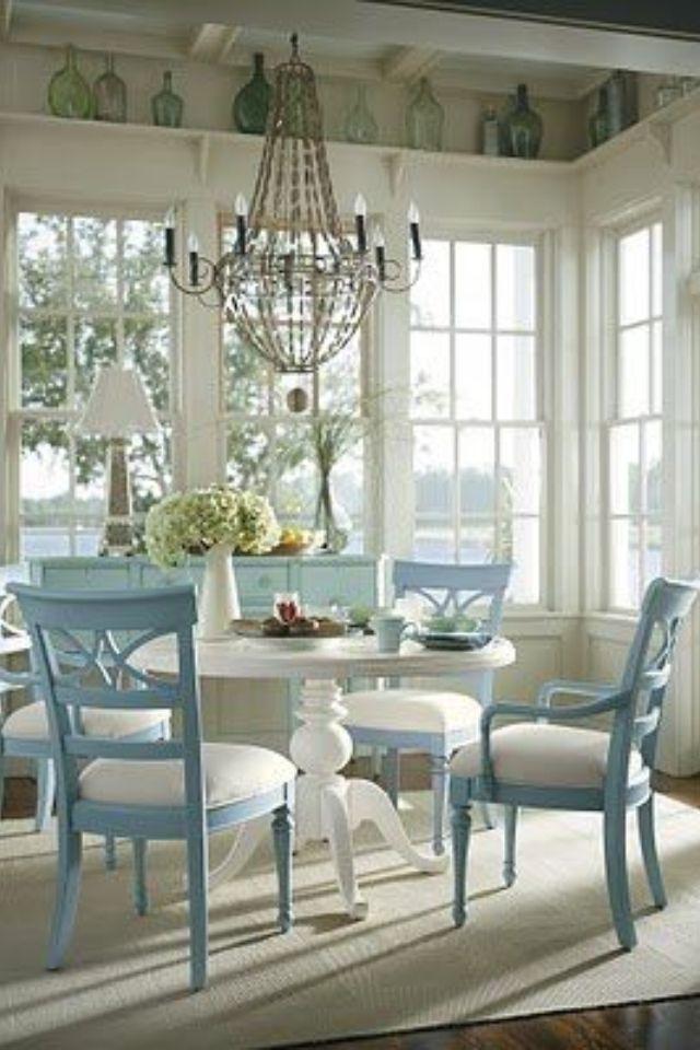 So Elegant Cottage Dining Rooms Home Pedestal Dining Table