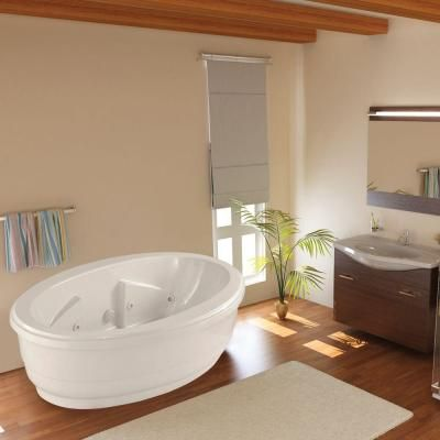 Hydro Systems Santa Fe 6 ft. Center Drain Soaking Tub in Biscuit ...