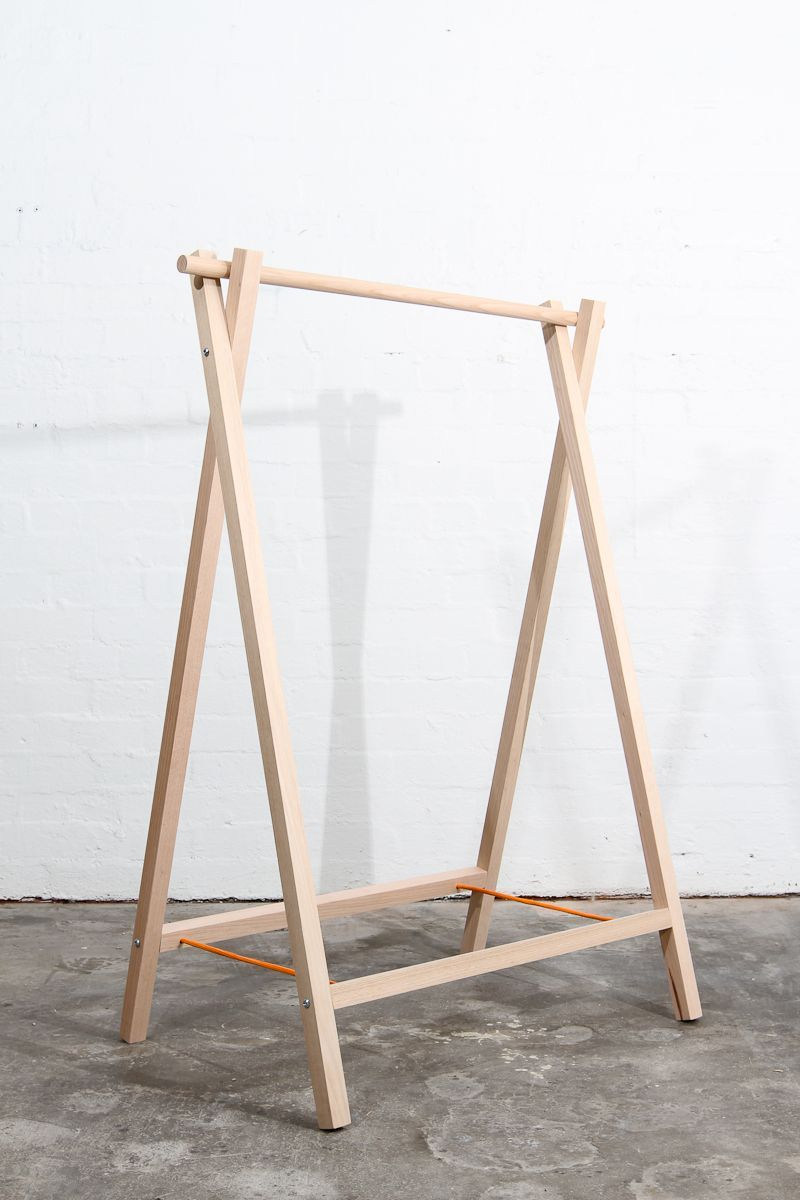 Clothes rack va home in 2019 diy clothes rack wood - Bedroom furniture for hanging clothes ...