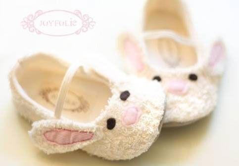 Molde para pantuflas con forma de conejo para bebes