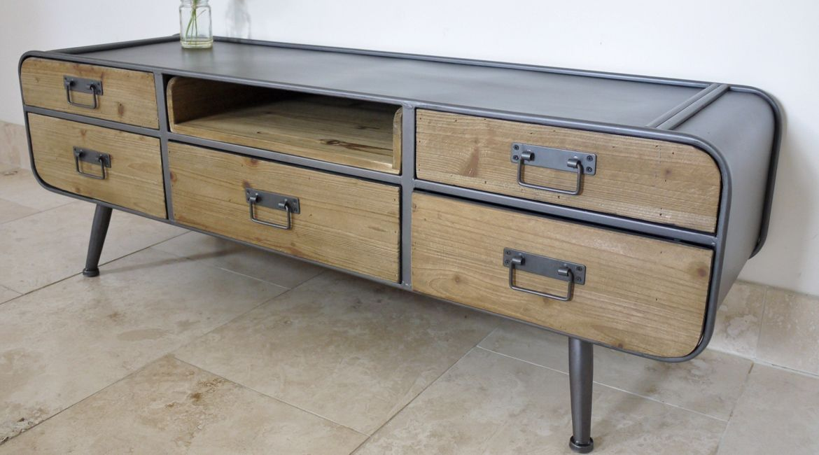 Are you interested in our industrial metal wood sideboard With our tv cabinet you need look no further