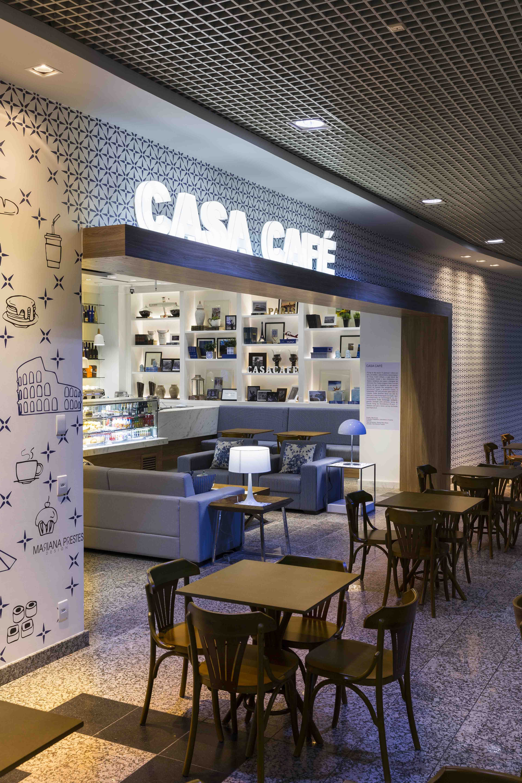 modern design casa café coffee shop airport porto alegre brasil
