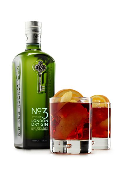 How to make a classic No.3 Negroni?  35ml No.3 Gin  35ml Red Vermouth  35ml Campari   1 Lemon  1 Orange  Mix all the liquid contents together  in a heavy-bottomed tumbler with ice.  Stir.  Add a slice of orange and lemon  zest to decorate.