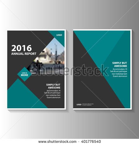 Green black Vector annual report Leaflet Brochure Flyer template