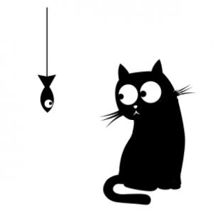 Трафарет кошки, кота. Шаблоны | Кругозор | Черно-белое ...