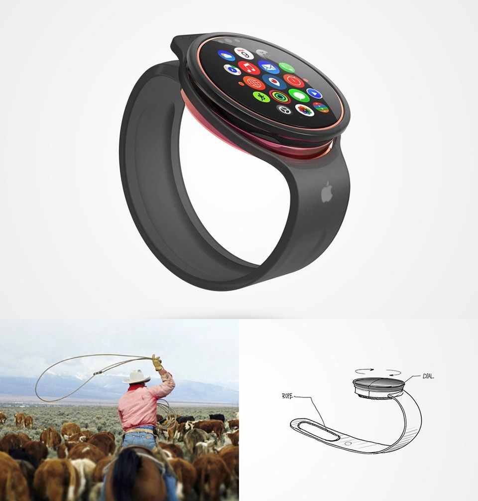 What the Apple Watch would look like with a round face and