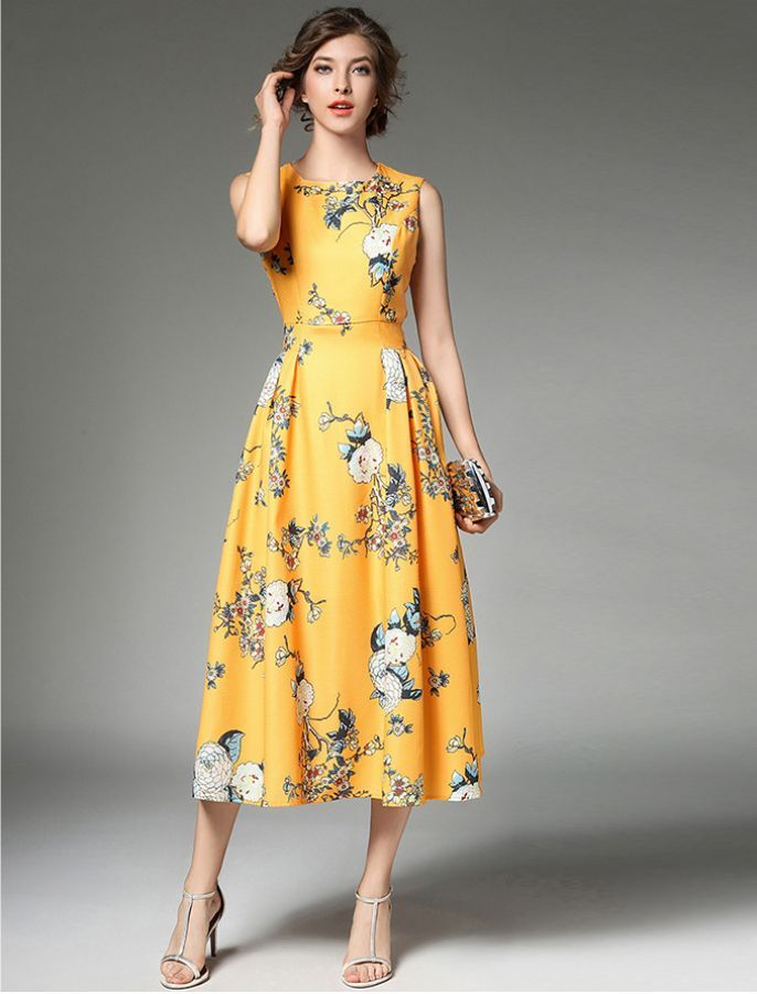 Hello Spring Audrey Hepburn Inspired 1950s Vintage Style Floral Dress Fashion Clothes Women Fashion Dresses Midi Dress Party