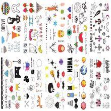 10 unids Manga Del Tatuaje productos de ex Diseño Patrón Tatoo Moda Pegatinas Temporales Del Tatuaje Arte Corporal Temporal A Prueba de agua