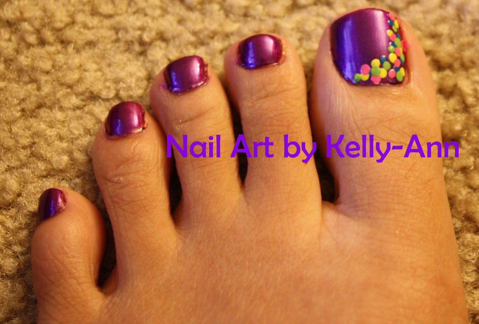 Flower Toe Nail Designs Nail Art For Toes General Fancy Purple Toe