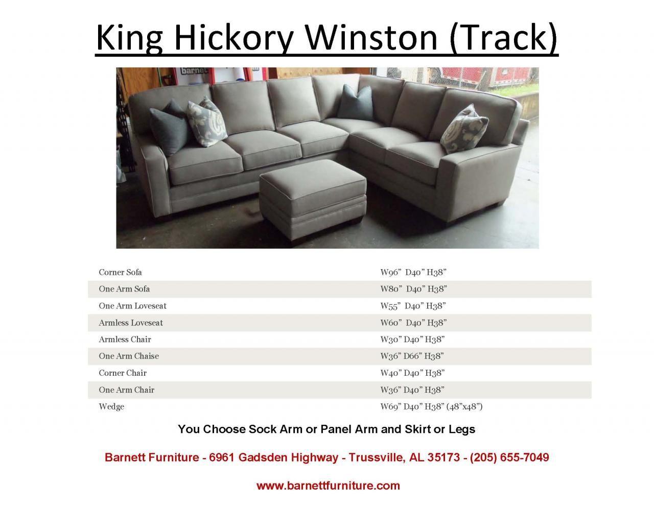 Pleasing King Hickory Winston Sectional Track Arm And Modern Leg Inzonedesignstudio Interior Chair Design Inzonedesignstudiocom