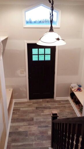 Foyer Extension Ideas : Raised ranch remodel interior entryway bump out extension