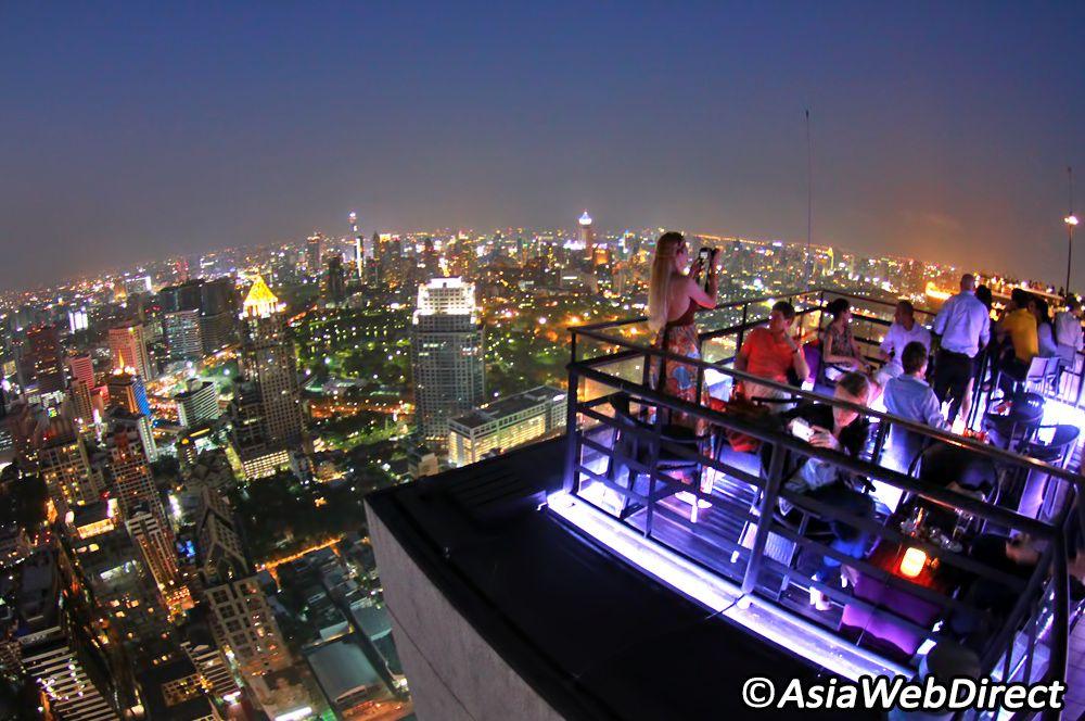 Vertigo rooftop bar at the Banyan Tree, Bangkok   Bangkok ...