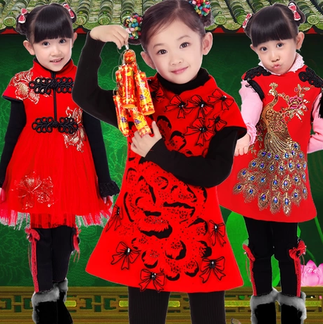 Chinese New Year dresses for girls.   Contact me to buy...  36aec05f56ab