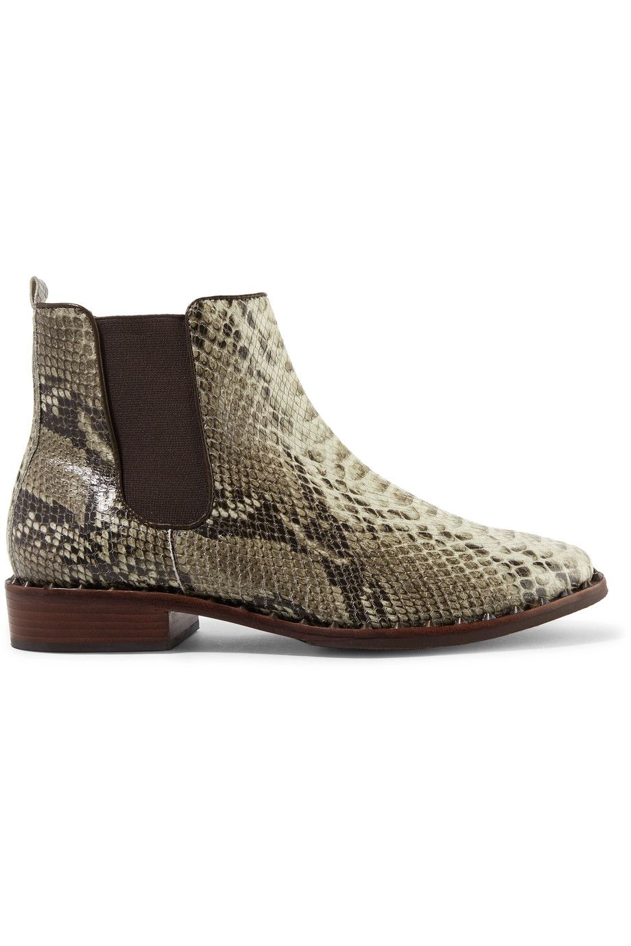 71e71180b SCHUTZ Shabba Embellished Snake-Effect Leather Ankle Boots. #schutz #shoes  #boots