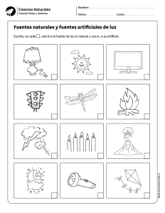 Fuentes naturales y fuentes artificiales de luz ciencias for Fuentes artificiales