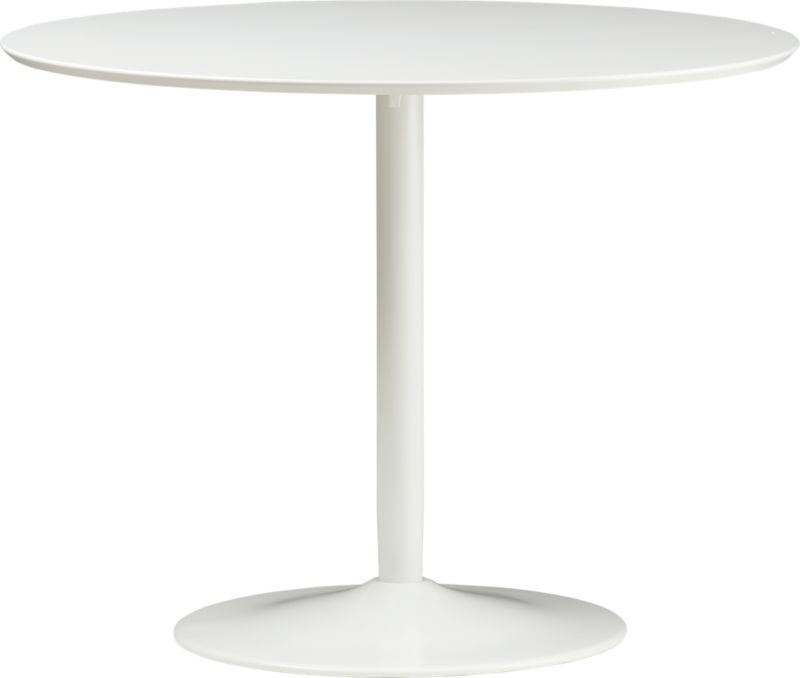 Odyssey White Dining Table In Dining Furniture CB Books Worth - Cb2 white dining table