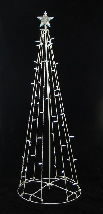 5 foot lighted cone shape christmas tree item