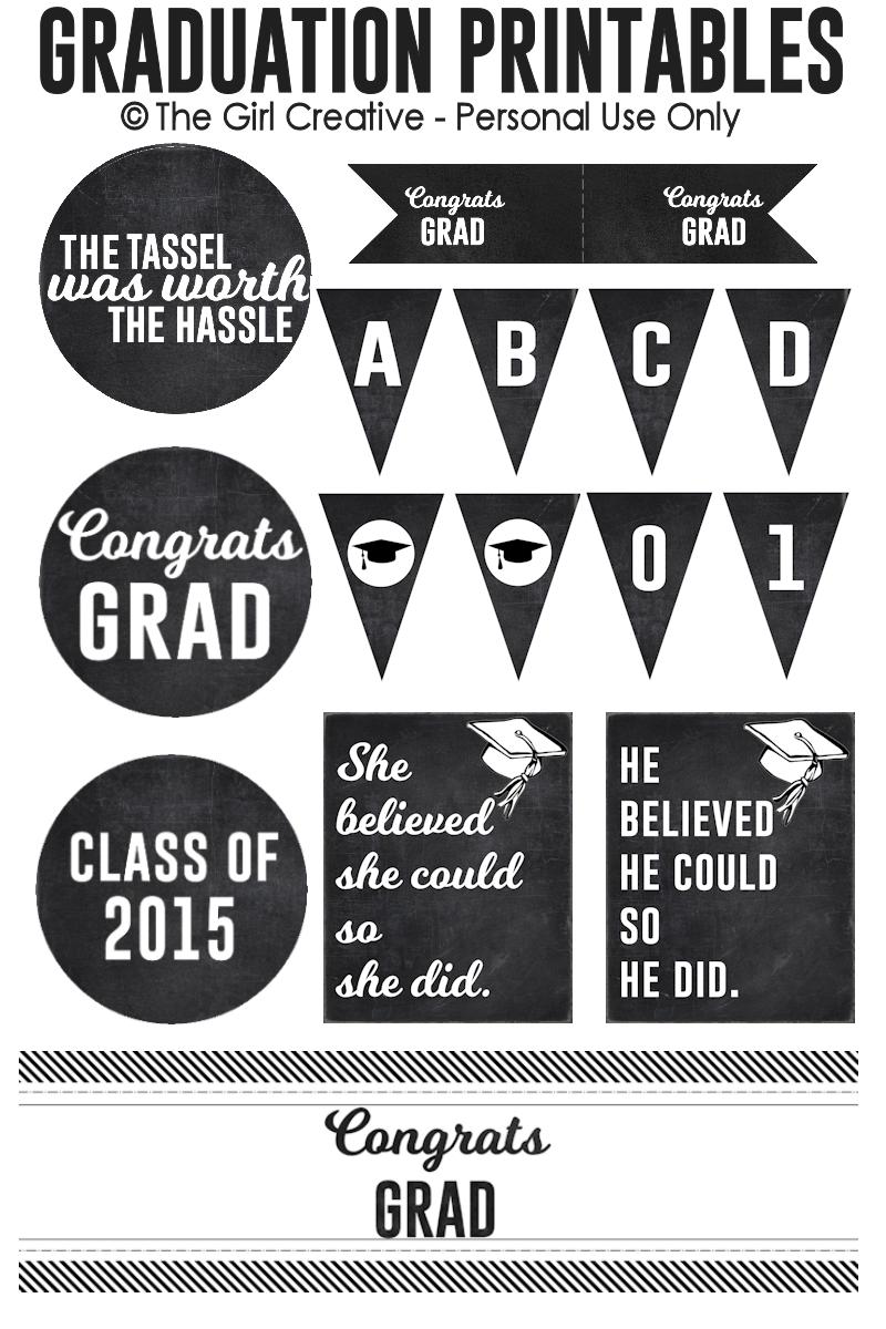 Graduation Printables | Printable banner, Graduation ideas and Grad ...