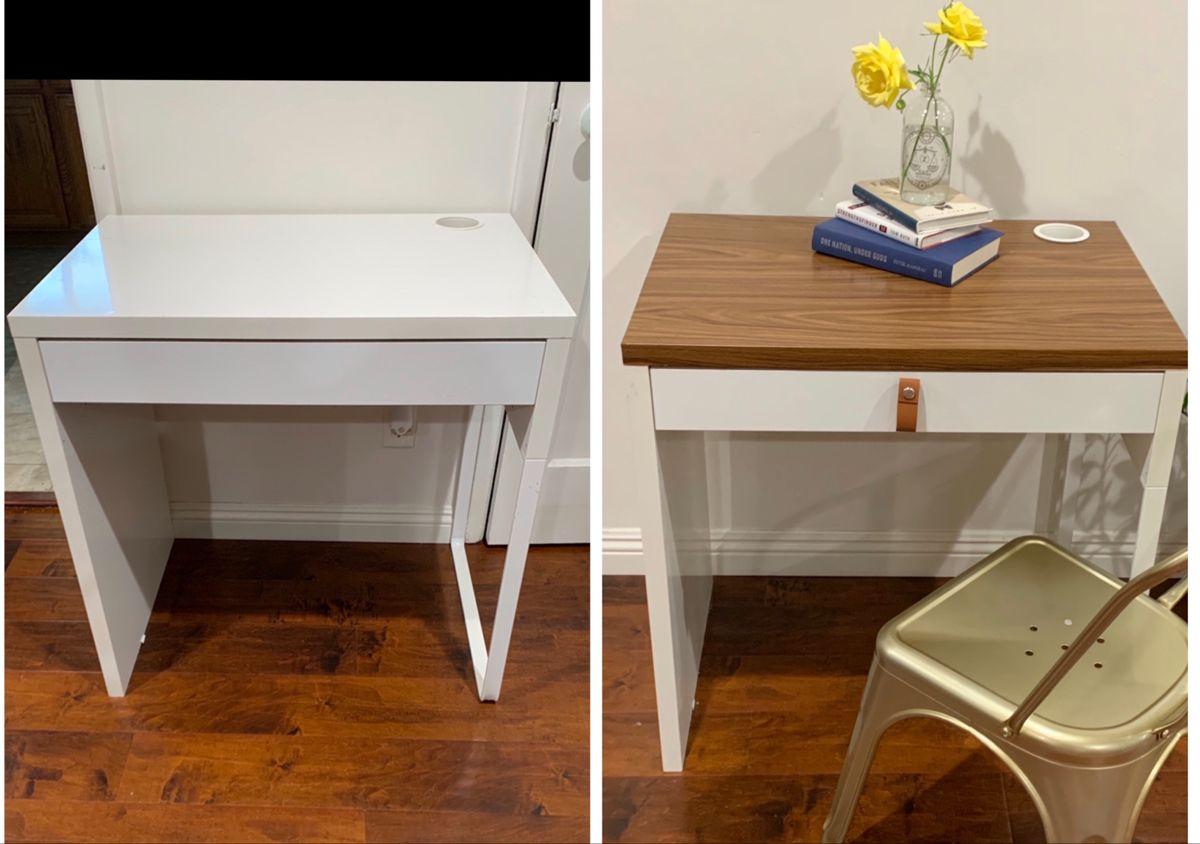 Cheap Ikea Micke Desk Hack In 2020 Ikea Desk Wood Ikea Micke Desk Ikea Micke