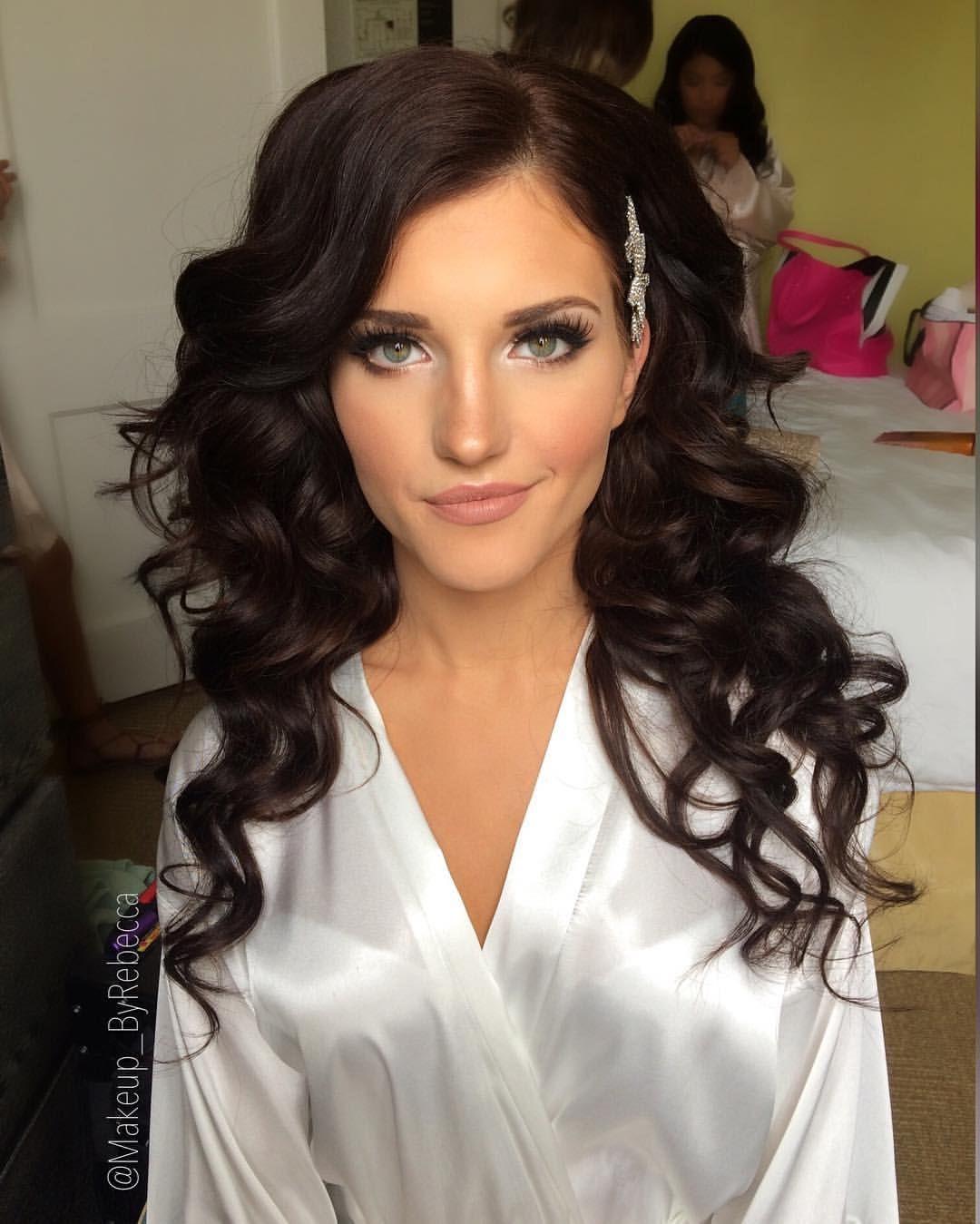 2 281 Likes 53 Comments Makeup Byrebecca Rebecca Bogdan On Instagram Flawless Olga Hairan Wedding Hair And Makeup Prom Hair Bridal Make Up Inspiration