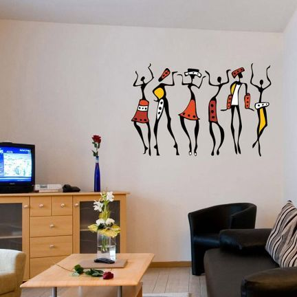 African Dancing Women Wall Design This Is A Sticker But For The