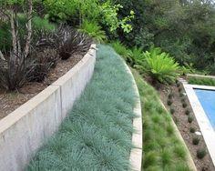 Garten Am Hang Gestalten Pool Ideen Bepflanzung Modern Beton Absichern