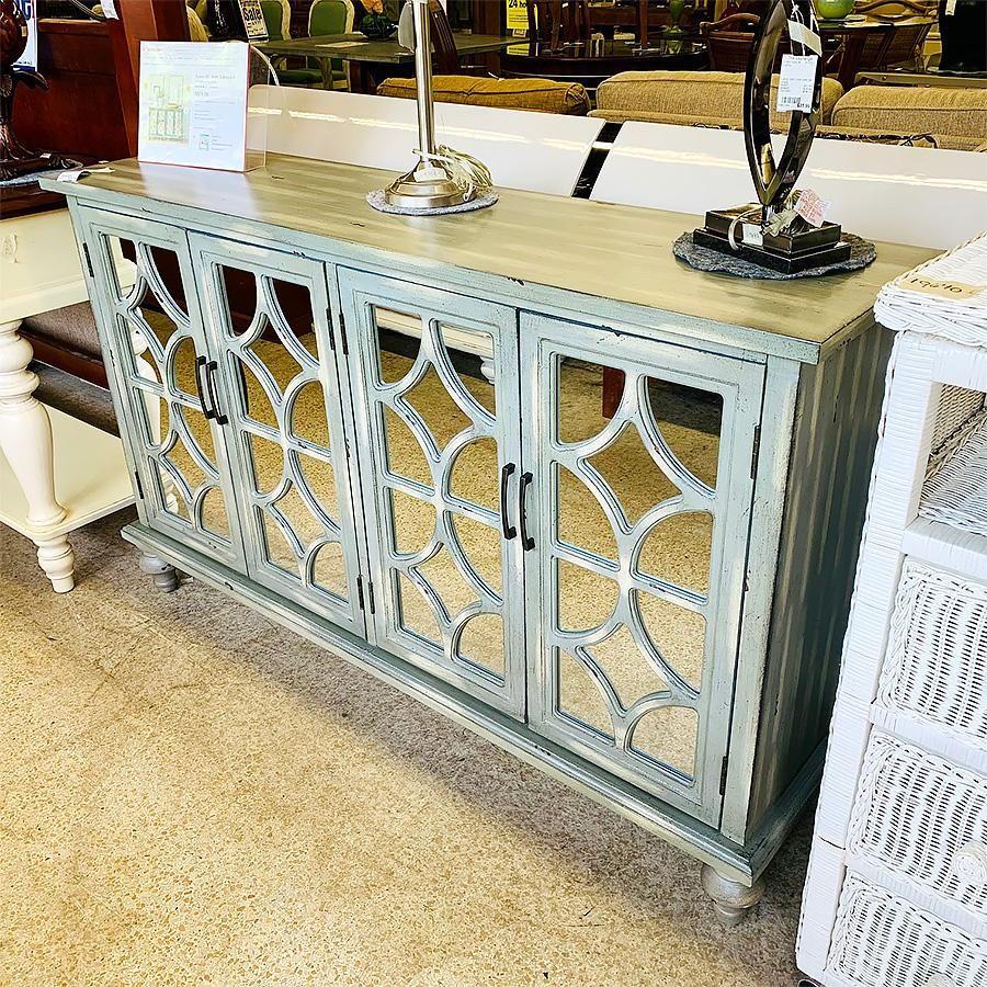 Cabinet - Sideboard Gray, Mirror finish
