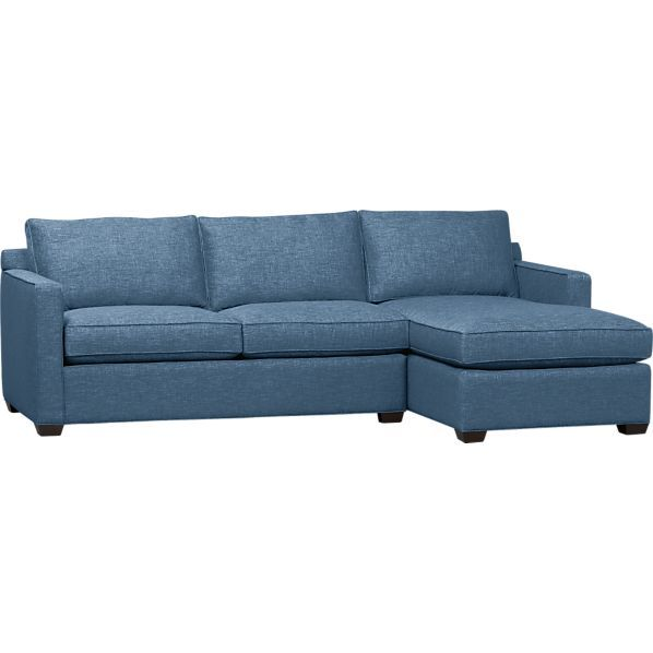 Davis 2 Piece Sectional Sofa In Ocean Chairs And Couches