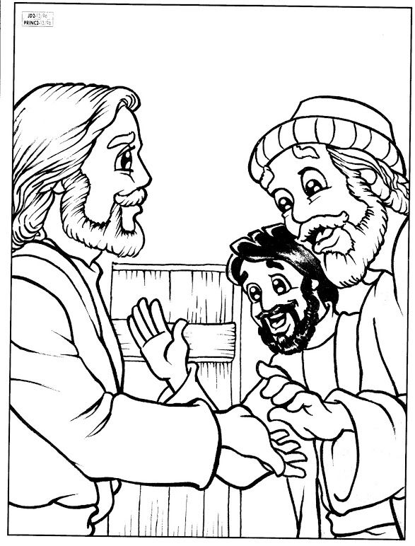 Doubting Thomas Bible Coloring Pages Coloring Pages Creation