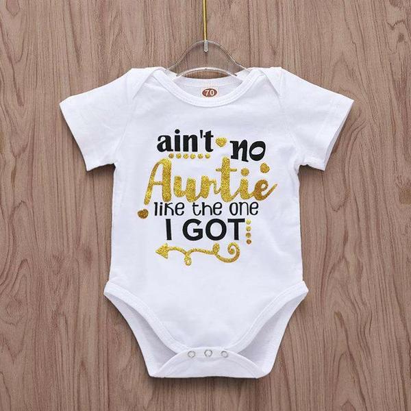Toddler Baby Girls ain/'t no Auntie Pattern Jumpsuit Romper Bodysuit Crawl Suit