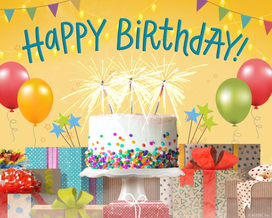 Four birds birthday song personalize birthday ecard
