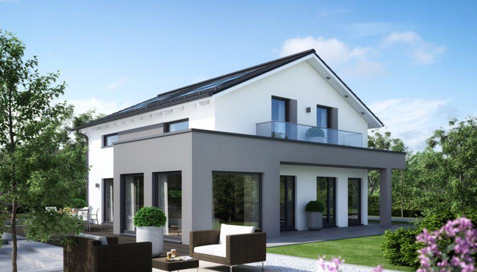 Musterhaus modern satteldach  Unser SUNSHINE 165 - V4. Dieses kann sogar als #Musterhaus in Ulm ...